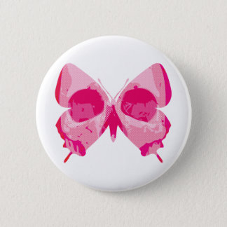 Butterfly Skull Pinback Button