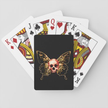 Halloween Themed Butterfly Skull Playing Cards