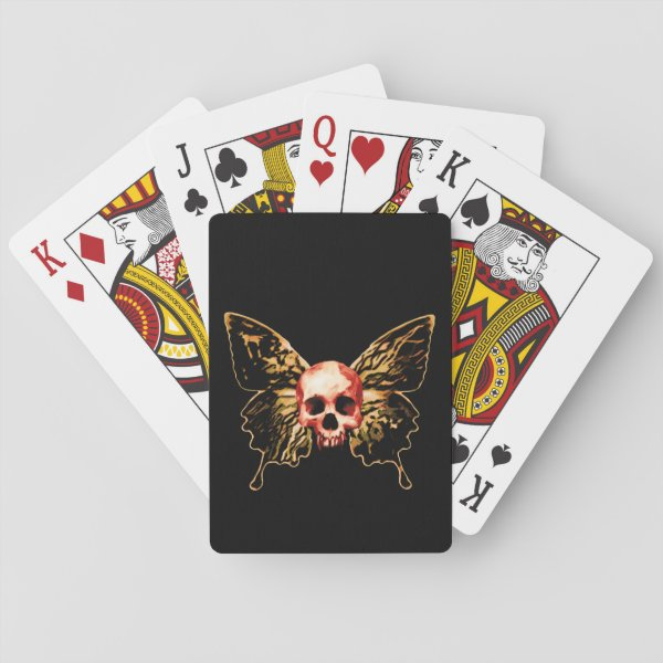 Butterfly Skull Playing Cards
