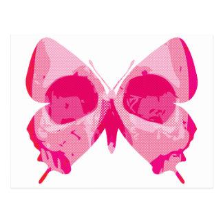 Butterfly Skull Postcard