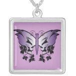 Butterfly Skull - Purple Pendants