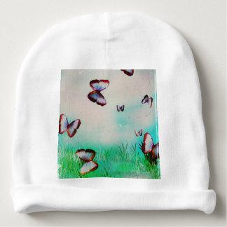 Butterfly sky original art design baby beanie