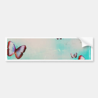 Butterfly sky original art design bumper sticker