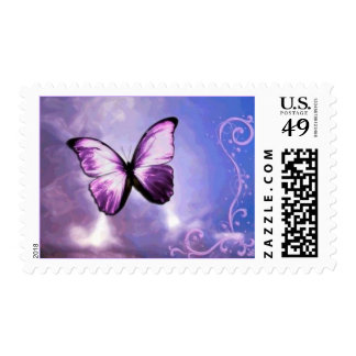 Butterfly Sky Postage Stamp