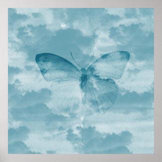 Butterfly Sky Poster