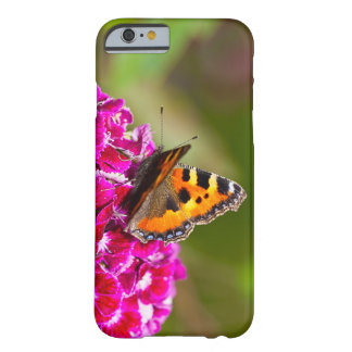 Butterfly small Tortoiseshell on Summerflower Barely There iPhone 6 Case