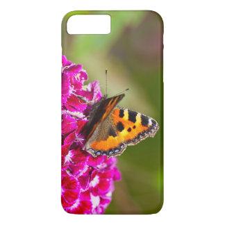 Butterfly small Tortoiseshell on Summerflower iPhone 7 Plus Case