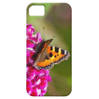 Butterfly small Tortoiseshell on Summerflower iPhone SE/5/5s Case