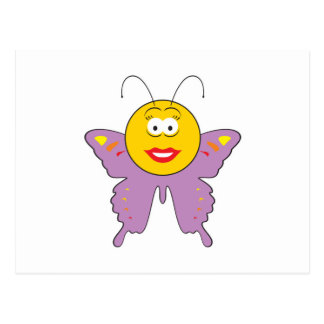 Butterfly  Smiley Face Postcard