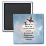 """Butterfly """"So Loved"""" Poem 2 Inch Square Magnet"""