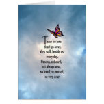 """Butterfly """"So Loved"""" Poem Card"""