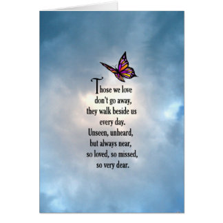 "Butterfly ""So Loved"" Poem Card"