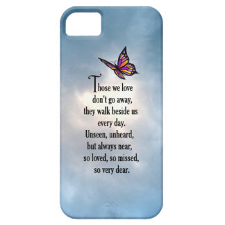 """Butterfly """"So Loved"""" Poem iPhone SE/5/5s Case"""