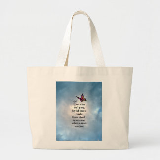"Butterfly ""So Loved"" Poem Large Tote Bag"