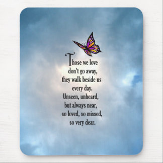 "Butterfly ""So Loved"" Poem Mousepad"