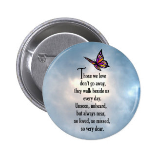 "Butterfly ""So Loved"" Poem Pinback Button"