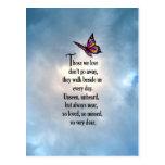 "Butterfly ""So Loved"" Poem Postcard"