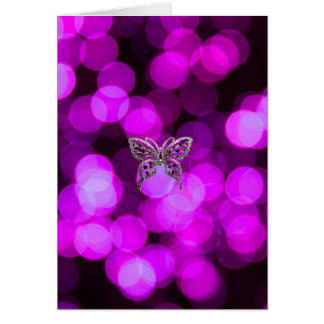 butterfly solo - violet light background card