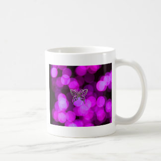 butterfly solo - violet light background coffee mug