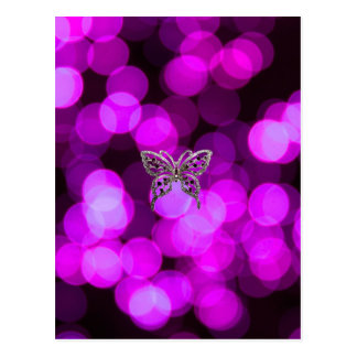 butterfly solo - violet light background postcard