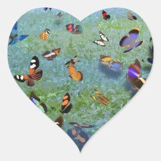 Butterfly Song of Cherokee Legend Heart Sticker