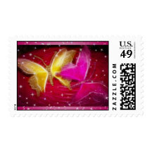 Butterfly Sparkles Postage