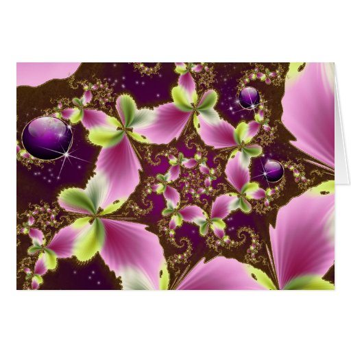 Butterfly Spiral Jewel Card