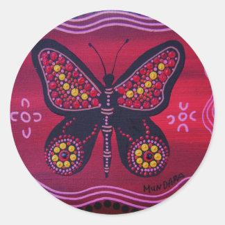Butterfly Spirit Classic Round Sticker