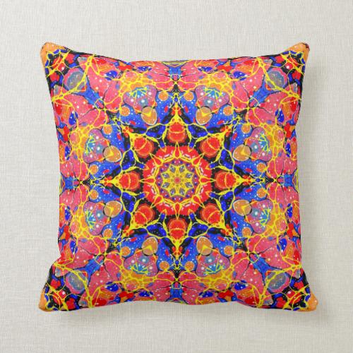 Butterfly Splash Kaleidoscope pillow Pillows