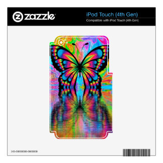 Butterfly spring iPod touch 4G decals