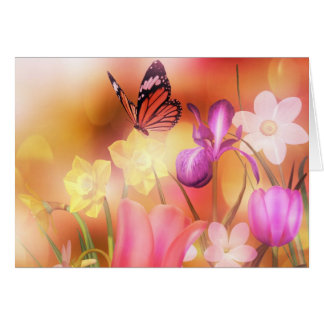 Butterfly spring sun dance card