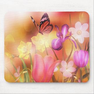 Butterfly Spring sun dance mousepad