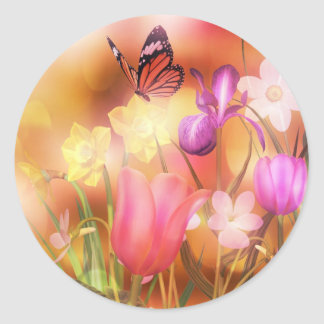 Butterfly spring sun dance Stickers