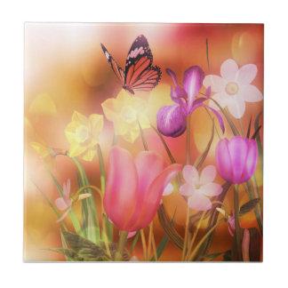 Butterfly spring sun dance tile