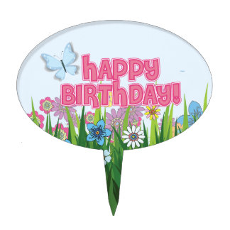 Butterfly, Springtime Party Cake Topper