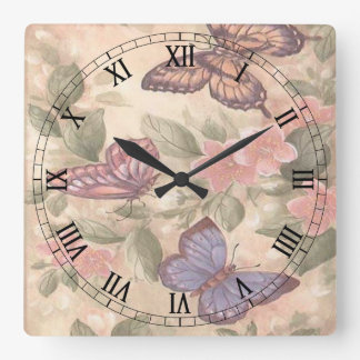 Butterfly Square Roman Numerals Clock