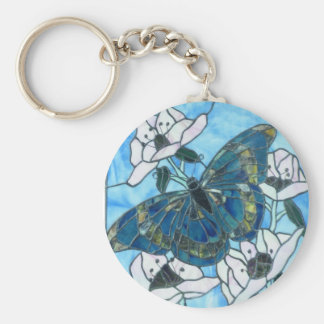 Butterfly stained glass keychain