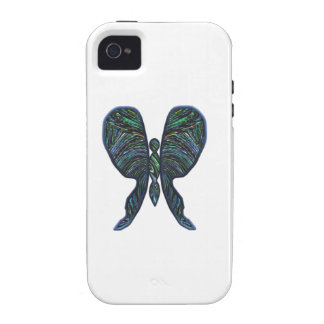 Butterfly, stained glass, spiral, t shirts, gifts vibe iPhone 4 case