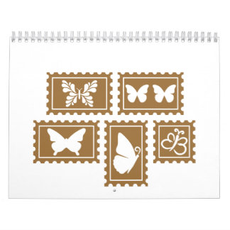 Butterfly stamp collection calendar