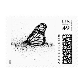 butterfly stamp with ink