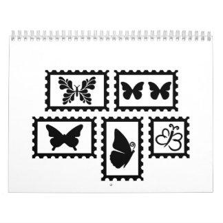 Butterfly stamps calendar