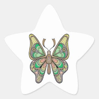 Butterfly Star Sticker