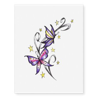 butterfly star temporary tattoo