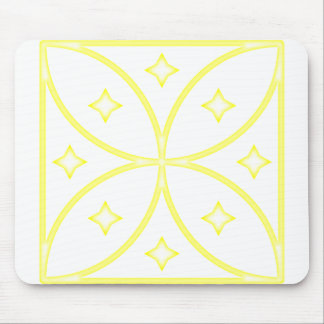 Butterfly Stars Yellow Mouse Pad