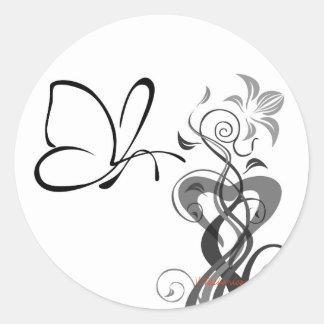 Butterfly stickers round sticker