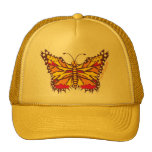 Butterfly Streaks in Purple, Yellow and Red Mesh Hats