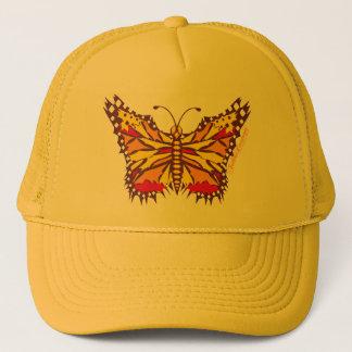 Butterfly Streaks in Purple, Yellow and Red Trucker Hat