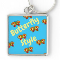 butterfly style key chain