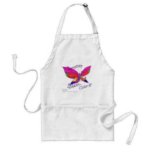 Butterfly Summer Splash Adult Apron