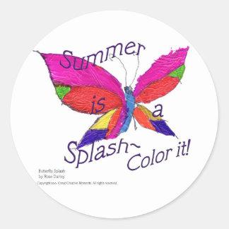 Butterfly Summer Splash Stickers
